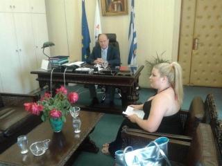 Ο Δήμαρχος Ζακύνθου έδωσε συνέντευξη στον τηλεοπτικό σταθμό στο EXTRA CHANNEL