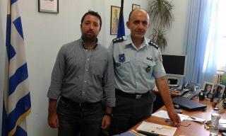 Ο Αντιδημάρχος Αρκαδίων, Γιάννης Κόκλας, συναντήθηκε  με τον Διοικητή της Τροχαίας