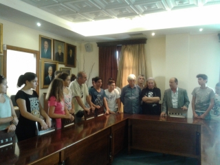 Συνάντηση του Δημάρχου, Παύλου Κολοκοτσά, με μαθητές του 1ου Γυμνασίου